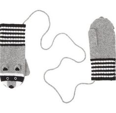 These Knit Mittens are Also Cute Raccoon Friends