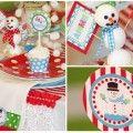 Snowman Snow Winter 5th Boy Girl Birthday Party Planning Ideas