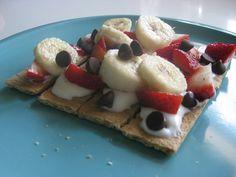 fruit nachos (yogurt or peanut butter is delish)