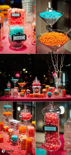 Candy bars are always a fun and colorful touch to any event!