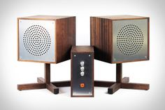 Known for his intriguing retro-futuristic gaming and computer designs, Love Hulton is now bringing his talents to bear on the audio world. The Love Hulten Astovox Hi-Fi System hides its Pioneer-sourced 6.75-inch drivers inside handmade African Mahogany cubes finished with...