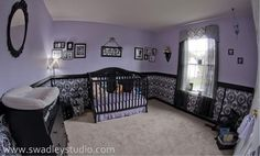Radiant Orchid Nursery2 Radiant Orchid in a Babys Nursery  Pantone Colour of the Year 2014