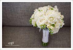 Stewart & Katie's Auckland City Wedding » Auckland Wedding Photographers – Moments Photography Blog.  Classic white wedding bouquet