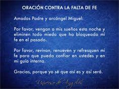 Oración a Dios y al arcángel Miguel contra la falta de fe. #UniversoDeAngeles