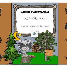 Ateliers-Mathématiques- Bonds-Animaux de la forêt-Caroline Gingras Créations Position, Maths, Bond, Creations, Comic Books, Writing, Comics, Reading, Art