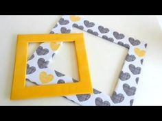 How to make a photo frame with cardboard - Modern Diy Photo Frame Cardboard, Cardboard Frames, Frame Crafts, Diy Frame, Diy Crafts, Homemade Frames, Photo Frames For Kids, Homemade Pictures, Party Frame