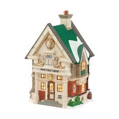 Amazon.com - Department 56 Dickens Village Ewart Public Library Lit House - Collectible Buildings