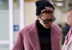 Airport Fashion: G-Dragon Returns to Korea #gdragon