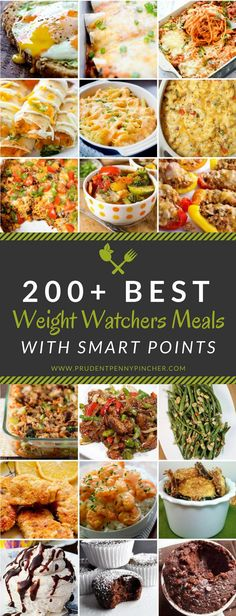 Diet Recipes 200 Best Weight Watchers Meals with Smart Points - This is the ULTIMATE collection of the best weight watcher meals to help you eat healthy and lose weight. You won't ever need to look for weight watchers recipes again with two hundred of the Plats Weight Watchers, Weight Watchers Meal Plans, Weigh Watchers, Weight Watchers Recipes With Smartpoints, Air Fryer Recipes Weight Watchers, Weight Watchers Points Calculator, Weight Watchers Program, Weight Watchers Soup, Weight Watchers Breakfast