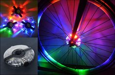 New Bike Lights with Battery Bicycle Light Waterproof Bike Hubs Light Mountain Bicycle Tire Hubs Warning LED Lamp