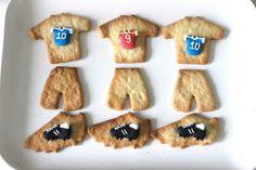 soccer cookies, football cookies Football Birthday, Football Soccer, Football Cookies, Party, Desserts, Food, September, Daughter, Child