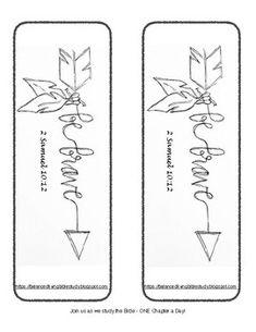 """Be Brave"" Bookmark (2 Samuel 10:12)"