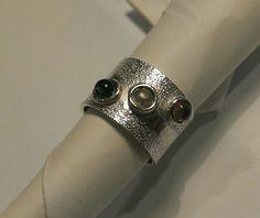 Zilveren ring met walsstructuur