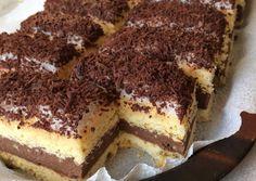 "Kakaós-rumos csoda avagy ""Kati szelet"" | Dorothy's kitchen receptje - Cookpad receptek Hungarian Desserts, International Recipes, Tiramisu, Decoupage, Food And Drink, Sweets, Snacks, Cookies, Simple"