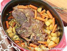 Kitchen Simmer: Classic Beef Pot Roast with Potatoes and Carrots