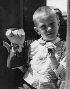Vivian Maier // New York (Boy with Puppet), circa 1951-55