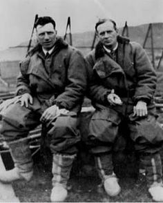 On this day 6th November,1892 the birth of John Alcock, English aviator who flew the first non stop flight across the Atlantic in 1919 with Sir Arthur Whitten-Brown ( John Alcock and Arthur Whitten-Brown, 14 June 1919. (Vickers PLC)