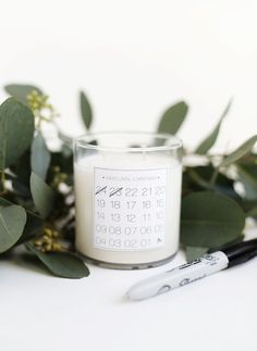 This minimalist Christmas candle calendar is perfect for small spaces or your desk at work.