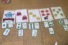 "Viaje de ""Los 10 Fantasmitas""por distintos colegios. Material ABN 5 Year Olds, Math Activities, Games, Halloween, Plaza, Robots, Kids Math, Shape Activities, Skip Counting Activities"