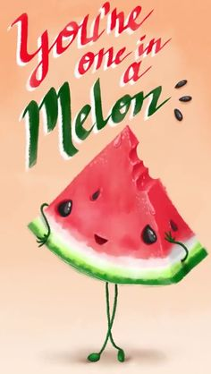 57 Ideas For Fruit Aesthetic Melon Funny Food Puns, Punny Puns, Food Humor, Love Puns, Funny Love, Cute Love, Funny Doodles, Pun Card, Frases Humor