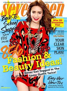Lily Collins - Seventeen Magazine cover [US] (September 2013)