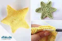 Die DIY-Anleitung für einen tollen Häkelstern wird Sie begeistern. Mit diesen Handgriffen können Sie kinderleicht einen Amigurumi oder flachen Stern häkeln.