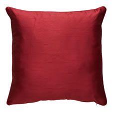 Wilko Paris Faux Silk Cushion Red
