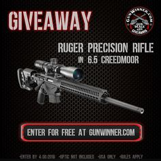 Enter to win this Ruger Precision Rifle from GunWinner.com