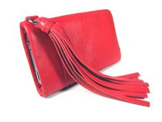 Valentines day gift for her Leather Tassel, Leather Bag, Valentines Day Gifts For Her, Iphone Accessories, Etsy, Red, Bags, Cellphone Case, Lamb
