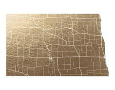 North Dakota Map  by GeekInk Design | Minted