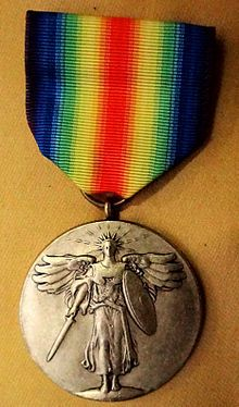 """In 1945, the """"Victory Ribbon"""" was created as an award for those who served in World War II. Between 1945 and 1947, the World War I award con..."""