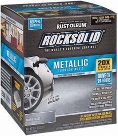 Rust Oleum 2 Packs Slv Met Garage Flr Kit Floor Finishes Epoxy