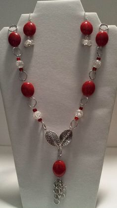 Hey, I found this really awesome Etsy listing at https://www.etsy.com/listing/170687310/red-and-white-necklace-set