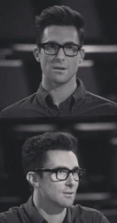 Adam Levine... i am OBSESSED w/him in glasses