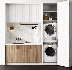 40 Small Laundry Room Ideas and Designs 2018 Laundry room decor Small laundry room organization Laundry closet ideas Laundry room storage Stackable washer dryer laundry room Small laundry room makeover A Budget Sink Load Clothes Laundry Cupboard, Laundry Closet, Laundry Room Storage, Laundry Nook, Bathroom Storage, Garage Storage, Drying Cupboard, Ikea Laundry, Wooden Cupboard