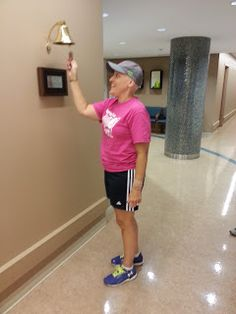 Ringing the bell after last chemo. There's a bell at Balboa and I can't wait for Cylan to ring it!!!