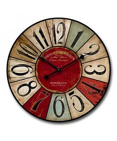 Look at this #zulilyfind! Shabby Chic Multicolored Wall Clock by M Home Decor #zulilyfinds
