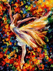 Ballerina Oil Painting - The Beauty Of Dance by Leonid Afremov