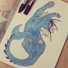 "akreon: "" #vaporeon #eevee #eeveelution #pokemon #pokemongo #copicmarkers #blue """