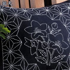 刺繍刺しゅうキットオリムパス刺し子古典柄クッション桔梗と麻の葉
