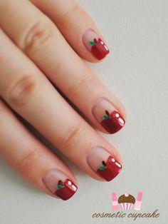 Apple nail art