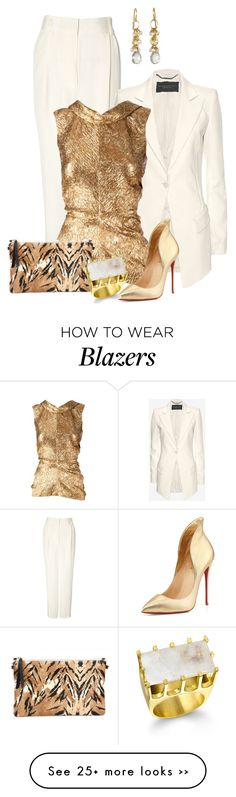 Untitled #1905 by anfernee-131 on Polyvore featuring 3.1 Phillip Lim, Barbara Bui, Oscar de la Renta and Christian Louboutin