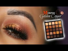 Gold Copper Look feat Morphe 25A Palette - YouTube