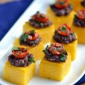 Vegan - Polenta Olive-Tapenade Bites