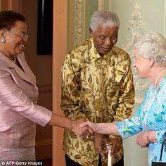 Our hero, our Madiba   Queen Elizabeth meets Nelson Mandela and wife, Graca Machel