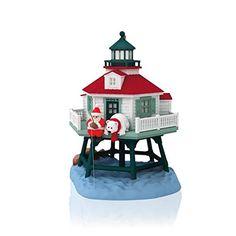 2014 Hallmark Keepsake Ornament- Holiday Lighthouse 3rd In Series - http://www.christmasshack.com/christmas-ornaments/2014-hallmark-keepsake-ornament-holiday-lighthouse-3rd-in-series/