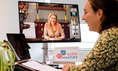 Queen Maxima paid an online working visit to Kletsmaatjes Queen Maxima, Dutch Royalty