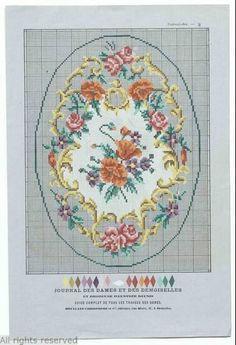 A Berlin WoolWork Pattern Produced In France ~ Le Journal Des Dames & Des Demoiselles ~ MoMu