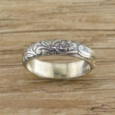 Princess Kylie Oxidized Sterling Silver Open Abstract Ring