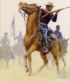 mort-kunstler-buffalo-soldiers-limited-edition-art-print-civil-war-national-wildlife-galleries